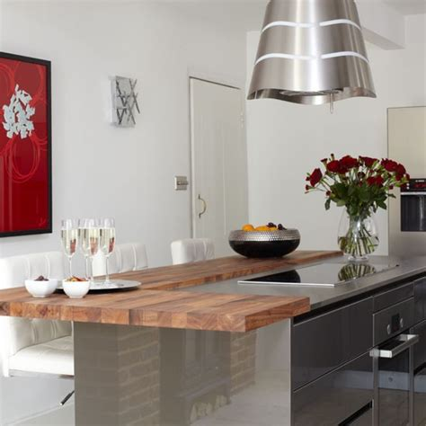 kitchen with breakfast bar designs breakfast bar be inspired by this ultramodern kitchen
