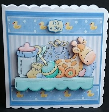 baby decoupage baby boy shelf 7 5 new baby decoupage mini kit photo by