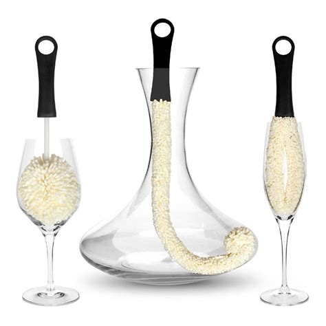 decanter cleaning 3 wine decanter and wine glass cleaning brushes