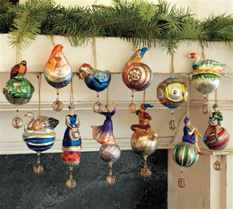 12 days of decorations twelve days of ornaments set of 12 pottery barn