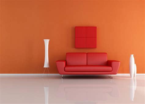 orange walls orange walls sofa and white vase 3d house