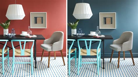 paint every room in house different color interior design one dining room two different wall