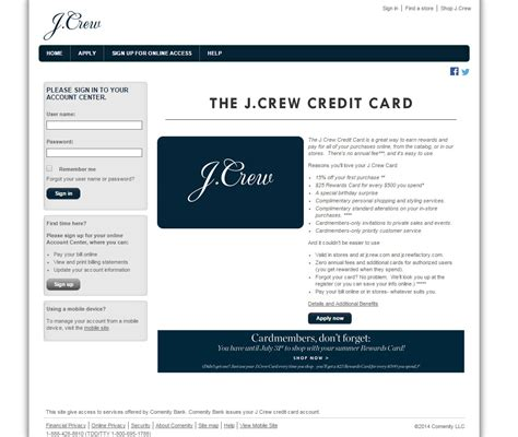 credit card make payment j crew credit card login make a payment