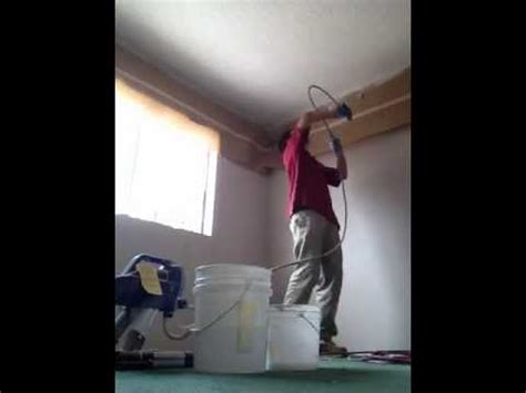 spray painting walls and ceilings spray painting a popcorn ceiling