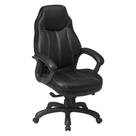 leather oversized chair office deluxe oversized executive faux leather office chair in black 151170