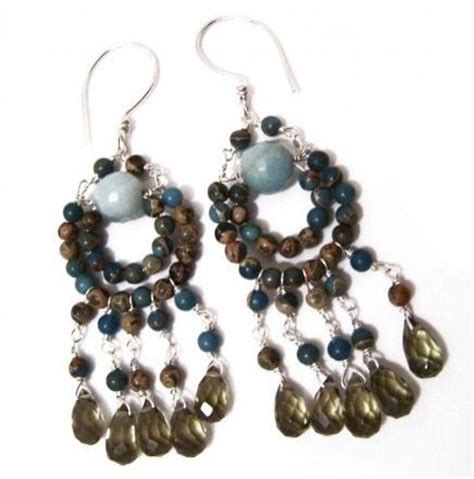 bead chandelier earrings how to make bead and wire chandelier earrings tutorials