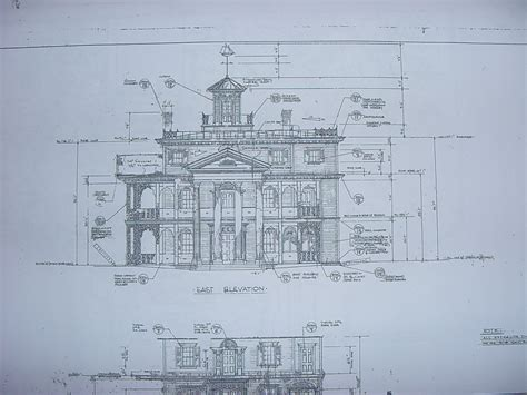 blueprint drawing new orleans square blueprints