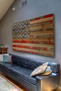 american decor rustic american flag decor things