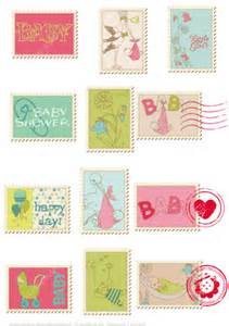 baby shower paper crafts printable baby shower pink postage sts free printable