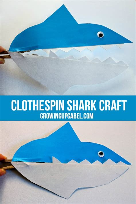 easy shark crafts for shark clothespin craft for