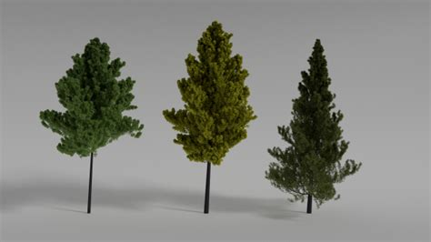 tree realistic realistic trees 3d model 3ds obj blend
