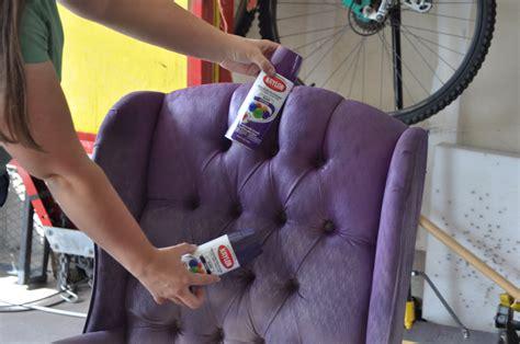 spray painting fabric furniture design delicious purple tufted
