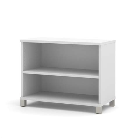 White Patio Cushions by Bestar Pro Linea 2 Shelf Bookcase In White 120160 1117