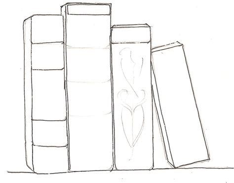 drawing book pictures how to draw books in shelf which can be read