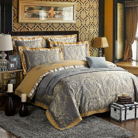 jacquard bedding set zangge bedding luxury satin jacquard paisley bedding sets