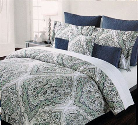tahari home king comforter set tahari home bedding cotton duvet cover set with teal mint