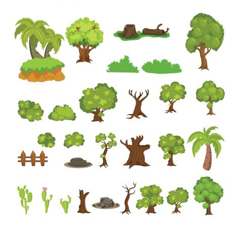 trees images free beautiful cactus and trees collection vector free