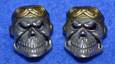 skull for paracord fighter pilot paracord skull badazzbeads