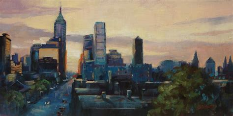 painting indiana indy city scape painting by donna shortt