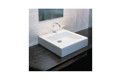 vasque quadra class carr 233 224 poser en c 233 ramique blanche ma salle de bain design