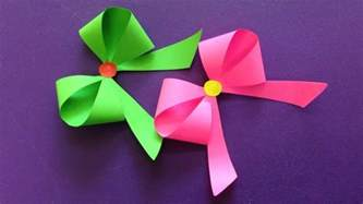 paper ribbon crafts how to make a paper bow ribbon easy origami bow ribbons