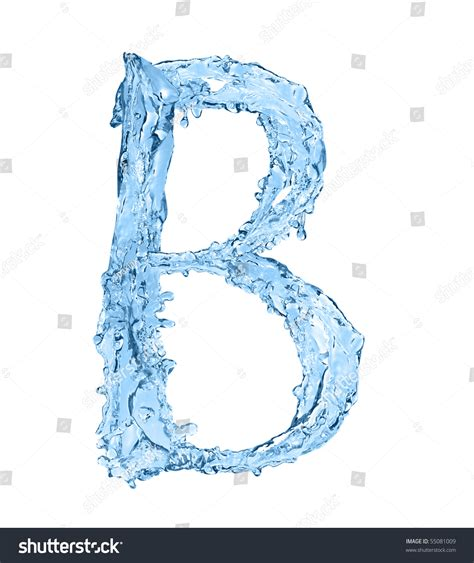 what are water made out of alphabet made of frozen water the letter b stock photo