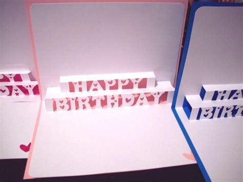how to make birthday cards step by step how to make a pop up birthday card gangcraft net