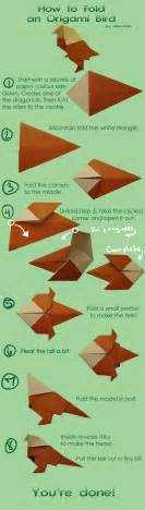 origami how to make how to make an origami bird by nitonale on deviantart