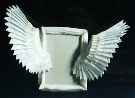winged origami ornament wings picture frame hobby and handcraft