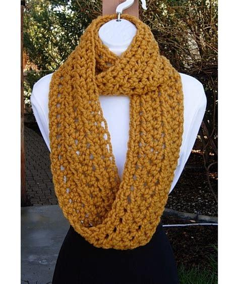 mustard yellow knit infinity scarf mustard yellow chunky crochet knit infinity loop scarf