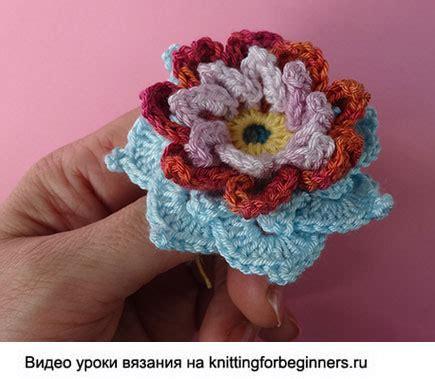knitting for beginners ru начинаем вязать видео уроки вязания 187 как связать лилию
