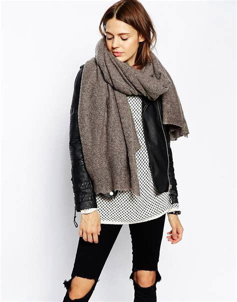 Asos Asos Oversized Knit Scarf At Asos