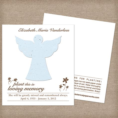 how to make seed cards plantable memorial cards memorial cards catalog