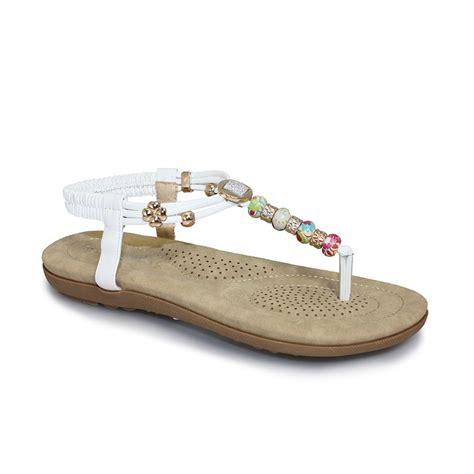 beaded sandals uk lunar jlh708 beech beaded sandal lunar from grs footwear uk