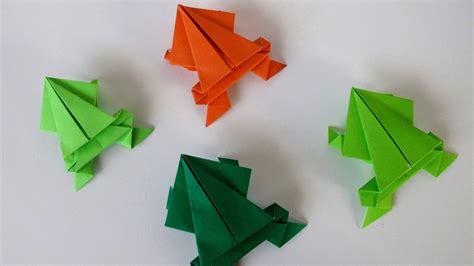 origami frog origami jumping frog rana saltarina