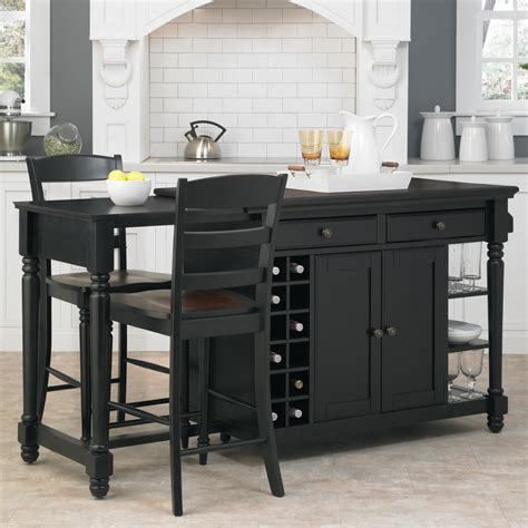 island for kitchen with stools home styles grand torino kitchen island two stools by oj