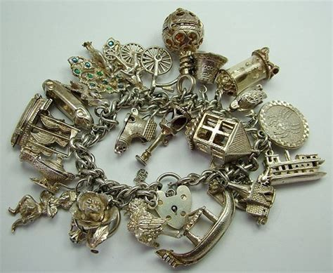 jewelry and charms vintage sterling silver charm bracelets we are currently