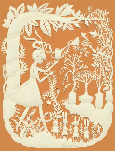 paper cutting papercut magic garden by elsa mora impressive magazine