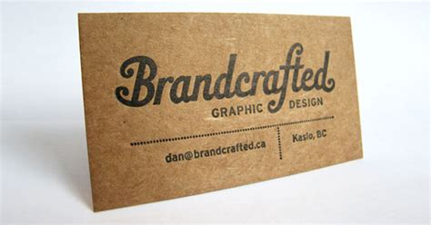 Kraft Paper Business Cards 14 Eye Catching Exles