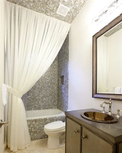 your bathroom look larger with shower curtain ideas