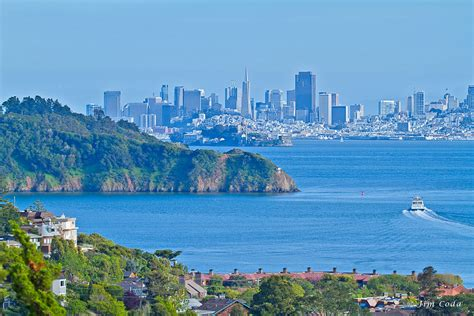 bay area landscape san francisco skyline from tiburon california sf bay