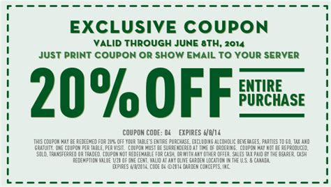 olive garden printable coupons 20 olive garden printable coupon