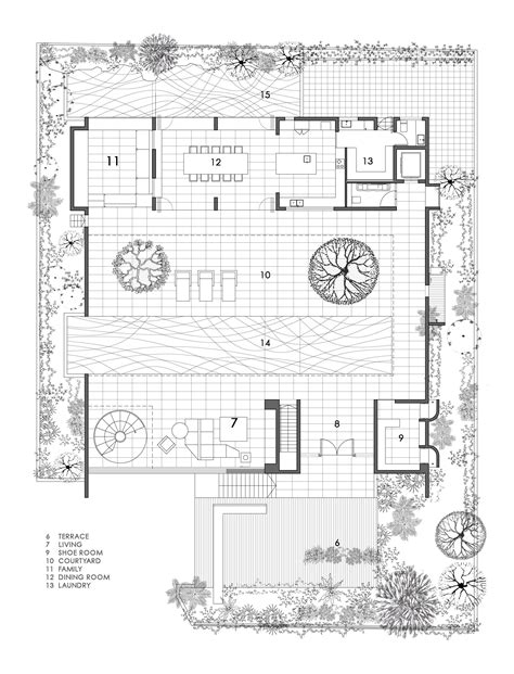 floor plans with courtyard gallery of the courtyard house formwerkz architects 12