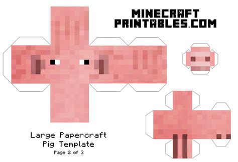 paper craft for printable 8 best images of minecraft papercraft template printables