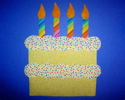cake craft for fabric applique template only birthday cake