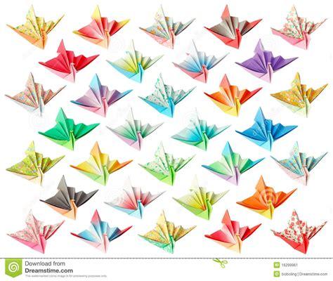origami crane pattern paper cranes pattern stock illustration image of