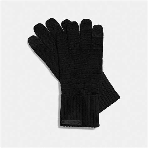 knit tech gloves coach knit tech glove