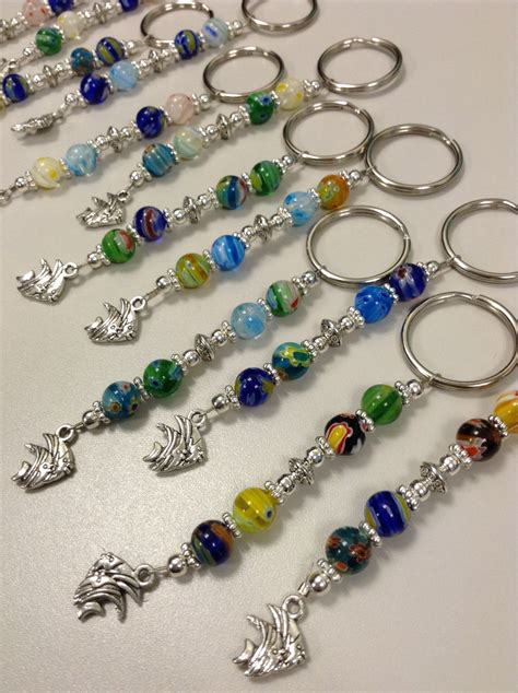 beaded keychains set of 12 tropical fish beaded keychains fish extender gifts
