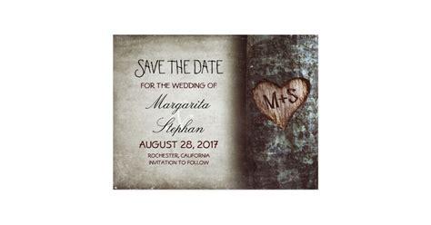 where to make save the date cards rustic tree save the date postcards zazzle