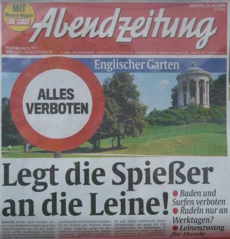 Leinenzwang Englischer Garten München by Juli 2008 Blariog Net